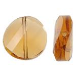 Imitim Swarovski Crystal Beads, Kristal, Kthesë, asnjë, faceted & imitim kristal Swarovski, Topaz tymosur, 18x18x7.50mm, : 1mm, 50PC/Qese,  Qese