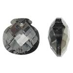 Imitim Swarovski Crystal Pendants, Kristal, Shape Tjera, Ngjyra argjend praruar, faceted & imitim kristal Swarovski, asnjë, 17x17x9mm, : 1.5mm, 50PC/Qese,  Qese