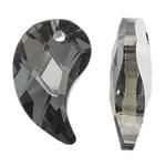 Imitim Swarovski Crystal Pendants, Kristal, Lot, Ngjyra argjend praruar, faceted & imitim kristal Swarovski, asnjë, 15x25x8mm, : 2mm, 50PC/Qese,  Qese