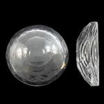 Cabochons Crystal, Kristal, Kube, asnjë, mbrapa banesë & faceted, Kristal, 25x8mm, 50PC/Qese,  Qese