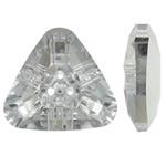 Imitim Swarovski Crystal Beads, Kristal, Trekëndësh, colorful kromuar, 3-vrimë & faceted, asnjë, 23.50x22x8mm, : 1.5mm, 50PC/Qese,  Qese