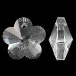 Imitim Swarovski Crystal Pendants, Kristal, Lule, asnjë, faceted & imitim kristal Swarovski, Kristal, 17x17.50x10mm, : 1.5mm, 50PC/Qese,  Qese