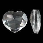 Imitim Swarovski Crystal Cabochon, Kristal, Zemër, asnjë, faceted, Kristal, 22x19x9mm, 50PC/Qese,  Qese