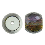 Imitim Swarovski Crystal Beads, Kristal, Daulle, colorful kromuar, imitim kristal Swarovski, asnjë, 12x9mm, : 1.5mm, 10PC/Qese,  Qese