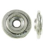 Washers Zink Alloy bizhuteri, Alloy zink, Round Flat, Ngjyra antike argjendi praruar, asnjë, asnjë, , nikel çojë \x26amp; kadmium falas, 8x2mm, : 2mm, 3120PC/KG,  KG