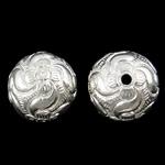 Beads bizhuteri bronzi, Tunxh, Round, Ngjyra argjend praruar, asnjë, asnjë, , nikel çojë \x26amp; kadmium falas, 18mm, : 2mm, 20PC/Qese,  Qese