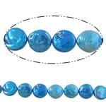 Monedhë Beads ujërave të ëmbla kulturuar Pearl, Pearl kulturuar ujërave të ëmbla, Buton, i lyer, blu, 13-14mm, : 1mm, :14.7Inç,  14.7Inç,