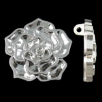 Alloy zink, Lule, Ngjyra argjend praruar, asnjë, asnjë, , nikel çojë \x26amp; kadmium falas, 36x37x6.50mm, : 2.5mm, 20PC/Qese,  Qese