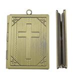 Pendants tunxh, Drejtkëndësh, Ngjyra antike bronz i praruar, krehur, asnjë, , nikel çojë \x26amp; kadmium falas, 27x39x6mm, : 2mm, 20PC/Qese,  Qese
