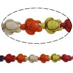 Bruz Beads, Bruz sintetike, Breshkë, i lyer, asnjë, ngjyra të përziera, 14x17.50x7mm, : 1.5mm, : 15.7Inç,  15.7Inç,