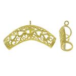 Beads Beil tunxh, Tub, ngjyrë ari praruar, i uritur, asnjë, , nikel çojë \x26amp; kadmium falas, 38x19x10mm, : 2mm, 50PC/Qese,  Qese