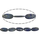 Beads lapis lazuli, Natyrore lapis lazuli, Oval Flat, asnjë, asnjë, 40x20.50x8mm, : 2mm, : 16Inç, 3Fillesat/Shumë, 1Strands/10Pcs,  Shumë