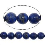 Beads lapis lazuli, Natyrore lapis lazuli, Round, asnjë, asnjë, 3mm, : 0.8mm, :15.5Inç, 3Fillesat/Shumë, 122 Pcs/Strand,  Shumë