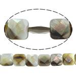 Beads Zi Shell, Black Shell, Katror, asnjë, faceted, asnjë, 12x12x5mm, : 1mm, :16Inç, 5Fillesat/Shumë, 31 Pcs/Strand,  Shumë