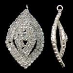Tunxh, Syri kali, Ngjyra argjend praruar, me diamant i rremë, asnjë, , nikel çojë \x26amp; kadmium falas, 25.50x43x12mm, : 3mm, 2PC/Qese,  Qese