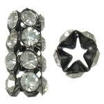 Bizhuteri tunxh Gjetja, Tub, plumbit ngjyrë të zezë praruar, me diamant i rremë & i uritur, asnjë, , nikel çojë \x26amp; kadmium falas, 9x18x8mm, 10PC/Qese,  Qese