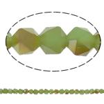 Beads Crystal, Kristal, Shumëkëndësh, gjysmë-kromuar, faceted, asnjë, 6mm, : 1.5mm, : 23.5Inç, 100PC/Fije floku,  23.5Inç,