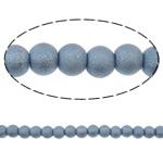 Stardust Glass Beads, Xham, Round, asnjë, purpurtë drita, 8mm, : 1-1.5mm, :30.7Inç, 10Fillesat/Qese,  Qese