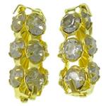 Tunxh, Tub, ngjyrë ari praruar, me diamant i rremë & i uritur, asnjë, , nikel çojë \x26amp; kadmium falas, 6.50x15.50x6.50mm, : 2.5mm, 100PC/Qese,  Qese