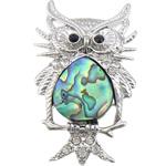 Pendants Natyrore predhë guaskë, Shell Guaskë, with Tunxh, Buf, ngjyrë platin praruar, me diamant i rremë, asnjë, 31x51x4mm, : 7mm, 10PC/Shumë,  Shumë