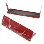 Iron Claw Rivet, Hekur, Drejtkëndësh, pikturë, 2 thua, i kuq, , nikel çojë \x26amp; kadmium falas, 35x11mm, 500PC/Qese,  Qese