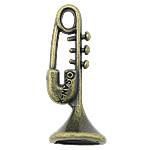 Pendants Zink Alloy Tool, Alloy zink, Vegël muzikore, Ngjyra antike bronz i praruar, asnjë, asnjë, , nikel çojë \x26amp; kadmium falas, 9x24mm, : 2x3mm, : 7mm, 715PC/KG,  KG