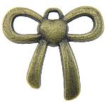 Pendants Zink Alloy, Alloy zink, Bowknot, Ngjyra antike bronz i praruar, asnjë, asnjë, , nikel çojë \x26amp; kadmium falas, 22x19x3mm, : 2mm, 588PC/KG,  KG