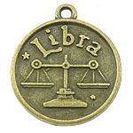 Pendants Zink Alloy, Alloy zink, Peshorja, Ngjyra antike bronz i praruar, asnjë, asnjë, , nikel çojë \x26amp; kadmium falas, 18x21x3mm, : 1.5mm, 333PC/KG,  KG