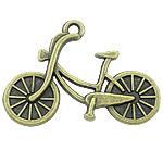 Pendants Zink Alloy Tool, Alloy zink, Biçikletë, Ngjyra antike bronz i praruar, asnjë, asnjë, , nikel çojë \x26amp; kadmium falas, 26x19x2.50mm, : 2mm, 588PC/KG,  KG