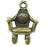 Pendants Zink Alloy Tool, Alloy zink, Karrige, Ngjyra antike bronz i praruar, asnjë, asnjë, , nikel çojë \x26amp; kadmium falas, 13x20x5mm, : 2mm, 770PC/KG,  KG