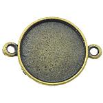 Zink Alloy Connector Setting, Alloy zink, Monedhë, Ngjyra antike bronz i praruar, 1/1 loop, asnjë, , nikel çojë \x26amp; kadmium falas, 25x16x2.50mm, : 2mm, : 14mm, 416PC/KG,  KG