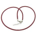 Cord gjerdan Moda, with Tunxh, Shape Tjera, ngjyrë platin praruar, asnjë, rose carmine, 4mm, :18Inç, 100Fillesat/Shumë,  Shumë