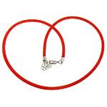 Cord gjerdan Moda, with Tunxh, Shape Tjera, ngjyrë platin praruar, asnjë, i kuq, 4mm, :18Inç, 100Fillesat/Shumë,  Shumë
