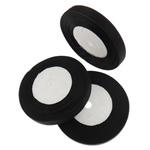 Organza Ribbon, asnjë, asnjë, e zezë, 1.3cm, :2500Oborr, 50PC/Shumë,  Shumë