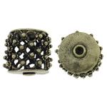Beads Hollow tunxh, Kolonë, Ngjyra antike bronz i praruar, i uritur, asnjë, , nikel çojë \x26amp; kadmium falas, 19x17mm, : 2mm, 20PC/Qese,  Qese