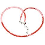Cord gjerdan Moda, Plastike Cord Net Thread, with Kristal, i kuq, 4mm, :20Inç, 30Fillesat/Shumë,  Shumë