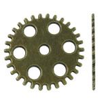 Zink Alloy Gjetjet bizhuteri, Alloy zink, Round Flat, Ngjyra antike bronz i praruar, asnjë, asnjë, , nikel çojë \x26amp; kadmium falas, 25.50x25.50x1mm, : 3-4mm, 400PC/KG,  KG