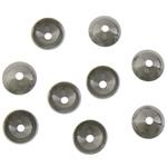 Edelstahl Perle Kappe, originale Farbe, 3x3x1.50mm, Bohrung:ca. 0.5mm, 300PCs/Tasche, verkauft von Tasche