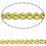 Snake Zinxhiri tunxh, Shape Tjera, ngjyrë ari praruar, asnjë, asnjë, , nikel çojë \x26amp; kadmium falas, 1.2x0.9mm, : 100m,  PC