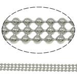 Tunxh Ball Chain, Shape Tjera, ngjyrë platin praruar, asnjë, asnjë, , nikel çojë \x26amp; kadmium falas, 4.6x1.5mm, : 100m,  PC