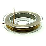 Thread Crystal, elastik, asnjë, ngjyrë kafe, 0.30mm, :10m, 50PC/Shumë,  Shumë