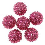 Beads diamant i rremë Rrëshirë, Rrëshirë diamant i rremë, Daulle, asnjë, i tejdukshëm, Trëndafil, 16x18mm, : 2.5mm, 100PC/Qese,  Qese