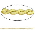Snake Zinxhiri tunxh, Shape Tjera, ngjyrë ari praruar, asnjë, asnjë, , nikel çojë \x26amp; kadmium falas, 1.2x0.7mm, : 100m,  PC
