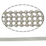 Tunxh Ball Chain, Shape Tjera, ngjyrë platin praruar, asnjë, asnjë, , nikel çojë \x26amp; kadmium falas, 6x1.5mm, : 100m,  PC