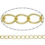 Oval Zinxhiri tunxh, Shape Tjera, ngjyrë ari praruar, asnjë, asnjë, , nikel çojë \x26amp; kadmium falas, 3.50x5.30x0.60mm, : 100m,  PC