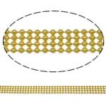 Tunxh Ball Chain, Shape Tjera, ngjyrë ari praruar, asnjë, asnjë, , nikel çojë \x26amp; kadmium falas, 6.4x1.5mm, : 100m,  PC