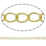 Oval Zinxhiri tunxh, Shape Tjera, ngjyrë ari praruar, asnjë, asnjë, , nikel çojë \x26amp; kadmium falas, 2.90x4.20x0.50mm, : 100m,  PC