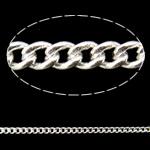 Oval Zinxhiri tunxh, Shape Tjera, Ngjyra argjend praruar, asnjë, asnjë, , nikel çojë \x26amp; kadmium falas, 1.20x1.50x0.35mm, : 100m,  PC