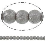 Stardust Glass Beads, Xham, Round, asnjë, dritë gri, 6mm, : 1mm, : 32.2Inç, 10Fillesat/Qese, approx145Pcs/Strand,  Qese
