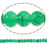 Glass Beads kërcitje, Xham, Round, asnjë, e gjelbër, 5mm, : 1mm, : 30.7Inç, 10Fillesat/Qese, approx200Pcs/Strand,  Qese
